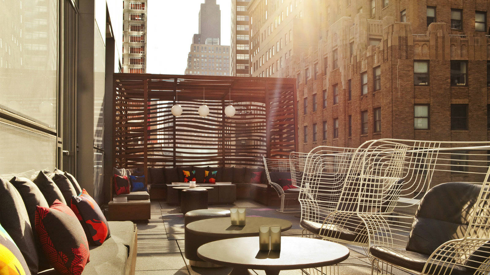 Superb W New York   Downtown   Financial District Bar Wraparound Terrace