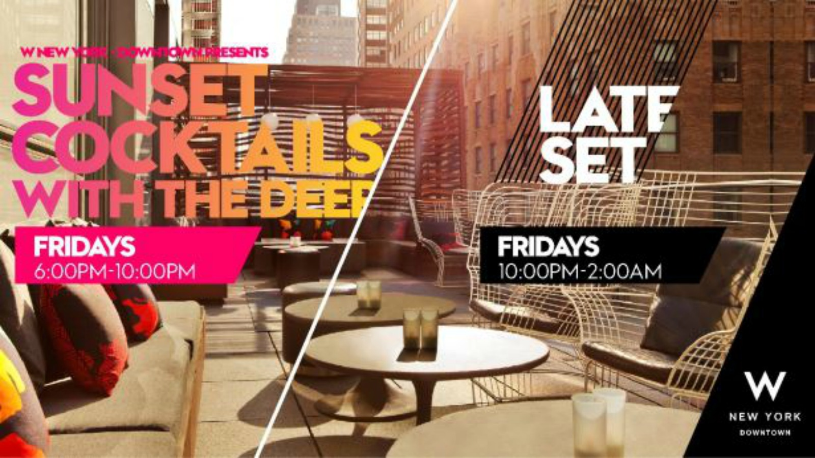 Living Room Bar + Terrace | W New York - Downtown