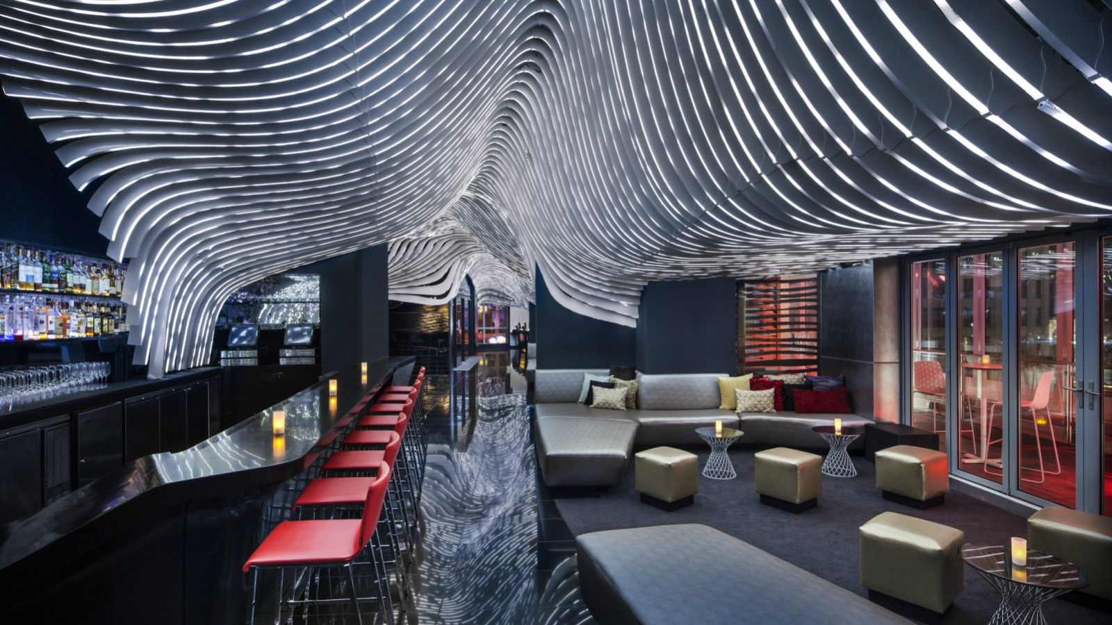The living room at the w new york union square oyster com for Terrace new york